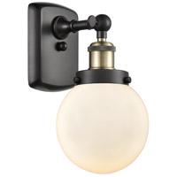 Innovations Lighting 916-1W-BAB-G201-6 Beacon 1 Light 6 inch Black Antique Brass Sconce Wall Light