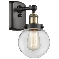 Innovations Lighting 916-1W-BAB-G202-6-LED Beacon LED 6 inch Black Antique Brass Sconce Wall Light