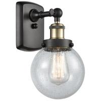 Innovations Lighting 916-1W-BAB-G204-6 Beacon 1 Light 6 inch Black Antique Brass Sconce Wall Light