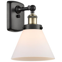 Innovations Lighting 916-1W-BAB-G41 Large Cone 1 Light 8 inch Black Antique Brass Sconce Wall Light