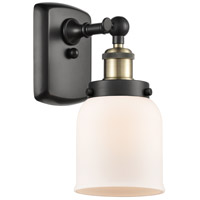 Innovations Lighting 916-1W-BAB-G51-LED Small Bell LED 5 inch Black Antique Brass Sconce Wall Light