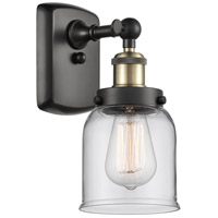 Innovations Lighting 916-1W-BAB-G52 Small Bell 1 Light 5 inch Black Antique Brass Sconce Wall Light