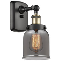 Innovations Lighting 916-1W-BAB-G53-LED Small Bell LED 5 inch Black Antique Brass Sconce Wall Light