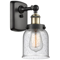 Innovations Lighting 916-1W-BAB-G54-LED Small Bell LED 5 inch Black Antique Brass Sconce Wall Light