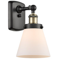 Innovations Lighting 916-1W-BAB-G61 Small Cone 1 Light 6 inch Black Antique Brass Sconce Wall Light