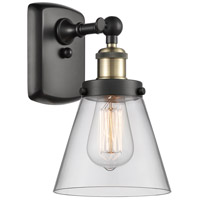 Innovations Lighting 916-1W-BAB-G62 Small Cone 1 Light 6 inch Black Antique Brass Sconce Wall Light