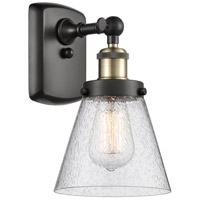 Innovations Lighting 916-1W-BAB-G64 Small Cone 1 Light 6 inch Black Antique Brass Sconce Wall Light