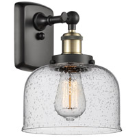 Innovations Lighting 916-1W-BAB-G74 Large Bell 1 Light 8 inch Black Antique Brass Sconce Wall Light