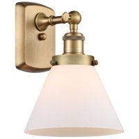 Innovations Lighting 916-1W-BB-G41 Large Cone 1 Light 8 inch Brushed Brass Sconce Wall Light