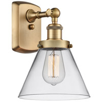 Innovations Lighting 916-1W-BB-G42 Large Cone 1 Light 8 inch Brushed Brass Sconce Wall Light