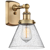Innovations Lighting 916-1W-BB-G44 Large Cone 1 Light 8 inch Brushed Brass Sconce Wall Light