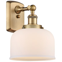 Innovations Lighting 916-1W-BB-G71-LED Large Bell LED 8 inch Brushed Brass Sconce Wall Light