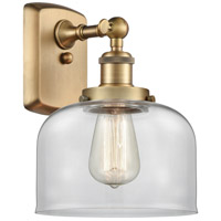 Innovations Lighting 916-1W-BB-G72 Large Bell 1 Light 8 inch Brushed Brass Sconce Wall Light