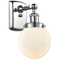 Innovations Lighting 916-1W-PC-G201-6 Beacon 1 Light 6 inch Polished Chrome Sconce Wall Light Ballston