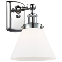 Polished Chrome Large Cone Wall Sconces