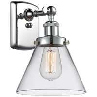 Innovations Lighting 916-1W-PC-G42 Large Cone 1 Light 8 inch Polished Chrome Sconce Wall Light Ballston