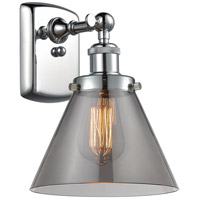 Innovations Lighting 916-1W-PC-G43 Large Cone 1 Light 8 inch Polished Chrome Sconce Wall Light Ballston