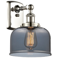 Innovations Lighting 916-1W-PN-G73-LED Large Bell LED 8 inch Polished Nickel Sconce Wall Light