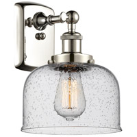 Innovations Lighting 916-1W-PN-G74-LED Large Bell LED 8 inch Polished Nickel Sconce Wall Light