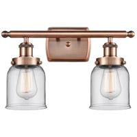 Innovations Lighting 916-2W-AC-G52 Small Bell 2 Light 16 inch Antique Copper Bath Vanity Light Wall Light