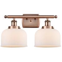 Innovations Lighting 916-2W-AC-G71 Large Bell 2 Light 16 inch Antique Copper Bath Vanity Light Wall Light
