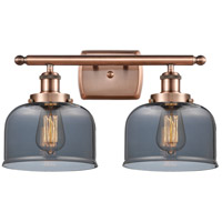 Innovations Lighting 916-2W-AC-G73 Large Bell 2 Light 16 inch Antique Copper Bath Vanity Light Wall Light