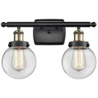 Innovations Lighting 916-2W-BAB-G202-6 Beacon 2 Light 16 inch Black Antique Brass Bath Vanity Light Wall Light