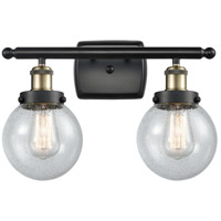 Innovations Lighting 916-2W-BAB-G204-6 Beacon 2 Light 16 inch Black Antique Brass Bath Vanity Light Wall Light