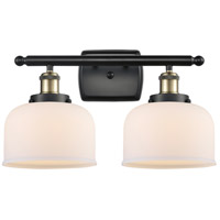 Innovations Lighting 916-2W-BAB-G71 Large Bell 2 Light 16 inch Black Antique Brass Bath Vanity Light Wall Light