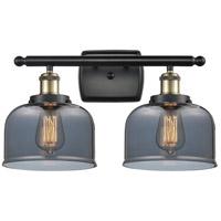 Innovations Lighting 916-2W-BAB-G73 Large Bell 2 Light 16 inch Black Antique Brass Bath Vanity Light Wall Light