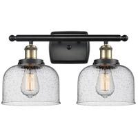 Innovations Lighting 916-2W-BAB-G74 Large Bell 2 Light 16 inch Black Antique Brass Bath Vanity Light Wall Light