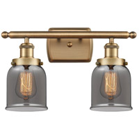 Innovations Lighting 916-2W-BB-G53-LED Small Bell LED 16 inch Brushed Brass Bath Vanity Light Wall Light