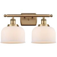 Innovations Lighting 916-2W-BB-G71 Large Bell 2 Light 16 inch Brushed Brass Bath Vanity Light Wall Light