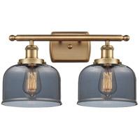 Innovations Lighting 916-2W-BB-G73 Large Bell 2 Light 16 inch Brushed Brass Bath Vanity Light Wall Light