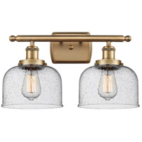 Innovations Lighting 916-2W-BB-G74 Large Bell 2 Light 16 inch Brushed Brass Bath Vanity Light Wall Light
