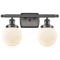 Innovations Lighting 916-2W-OB-G201-6-LED Beacon LED 16 inch Oil Rubbed Bronze Bath Vanity Light Wall Light Ballston