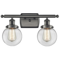 Innovations Lighting 916-2W-OB-G202-6-LED Beacon LED 16 inch Oil Rubbed Bronze Bath Vanity Light Wall Light Ballston