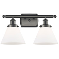 Innovations Lighting 916-2W-OB-G41-LED Large Cone LED 16 inch Oil Rubbed Bronze Bath Vanity Light Wall Light Ballston
