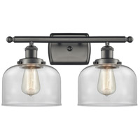 Innovations Lighting 916-2W-OB-G72 Large Bell 2 Light 16 inch Oil Rubbed Bronze Bath Vanity Light Wall Light Ballston