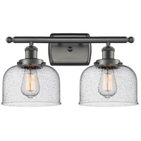 Innovations Lighting 916-2W-OB-G74 Large Bell 2 Light 16 inch Oil Rubbed Bronze Bath Vanity Light Wall Light Ballston