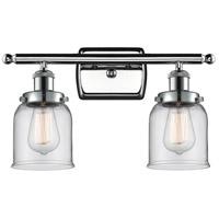 Innovations Lighting 916-2W-PC-G52 Small Bell 2 Light 16 inch Polished Chrome Bath Vanity Light Wall Light Ballston