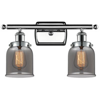 Innovations Lighting 916-2W-PC-G53-LED Small Bell LED 16 inch Polished Chrome Bath Vanity Light Wall Light Ballston