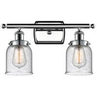 Innovations Lighting 916-2W-PC-G54 Small Bell 2 Light 16 inch Polished Chrome Bath Vanity Light Wall Light Ballston