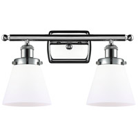 Innovations Lighting 916-2W-PC-G61 Small Cone 2 Light 16 inch Polished Chrome Bath Vanity Light Wall Light Ballston