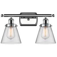 Innovations Lighting 916-2W-PC-G62 Small Cone 2 Light 16 inch Polished Chrome Bath Vanity Light Wall Light Ballston