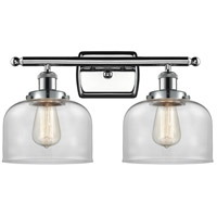 Innovations Lighting 916-2W-PC-G72 Large Bell 2 Light 16 inch Polished Chrome Bath Vanity Light Wall Light Ballston