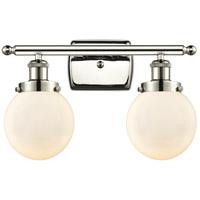 Innovations Lighting 916-2W-PN-G201-6-LED Beacon LED 16 inch Polished Nickel Bath Vanity Light Wall Light