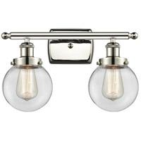 Innovations Lighting 916-2W-PN-G202-6-LED Beacon LED 16 inch Polished Nickel Bath Vanity Light Wall Light