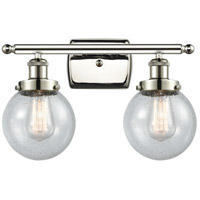 Innovations Lighting 916-2W-PN-G204-6-LED Beacon LED 16 inch Polished Nickel Bath Vanity Light Wall Light