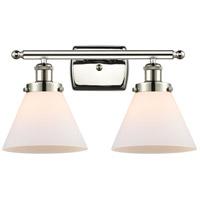 Innovations Lighting 916-2W-PN-G41-LED Large Cone LED 16 inch Polished Nickel Bath Vanity Light Wall Light